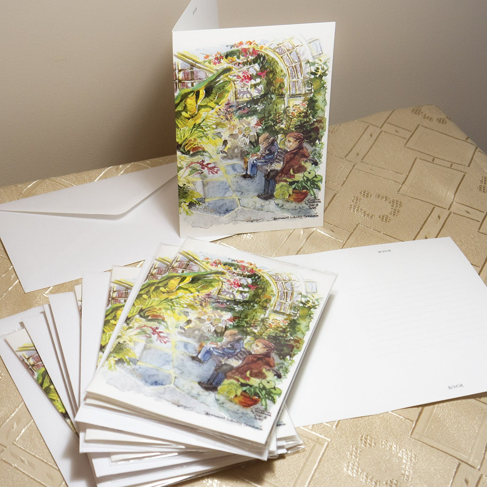 Westmount Greenhouse Greeting Cards Artkarolina