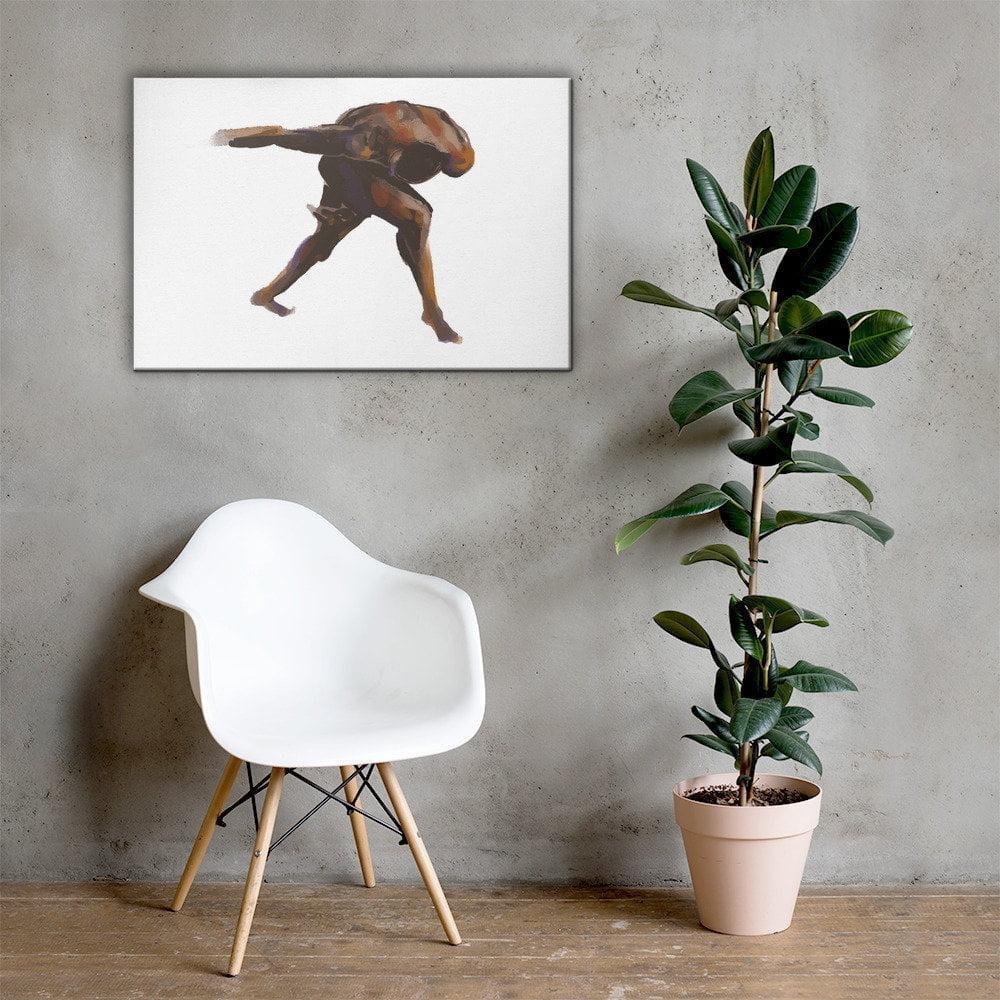 black man figure drawing canvas art print